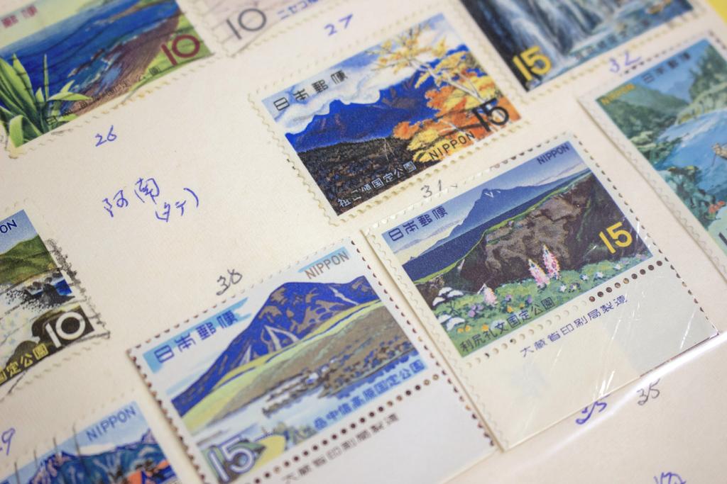 種類別切手