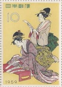 切手趣味週間「浮世源氏八景」